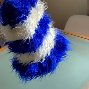 Accessories - Furry Blue Cat In The Hat Hat